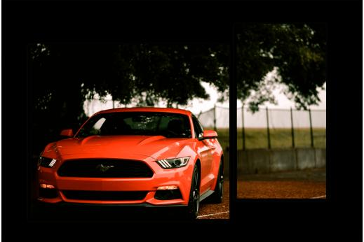 Модульная картина Mustang Red